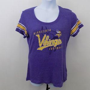 Minnesota Vikings Women's T-shirt Size Large
